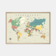 Gehalt-Verdenskort-Graa-Plakat-Eg-Ramme-70x100-D