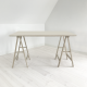 linoleum-art table-mushroombeige4176-domusnord