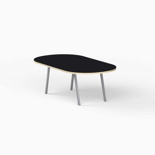 4Line-View-Lounge-Table-Krydsfiner-Sofa-Bord-Nero-Mellem-graa-ben