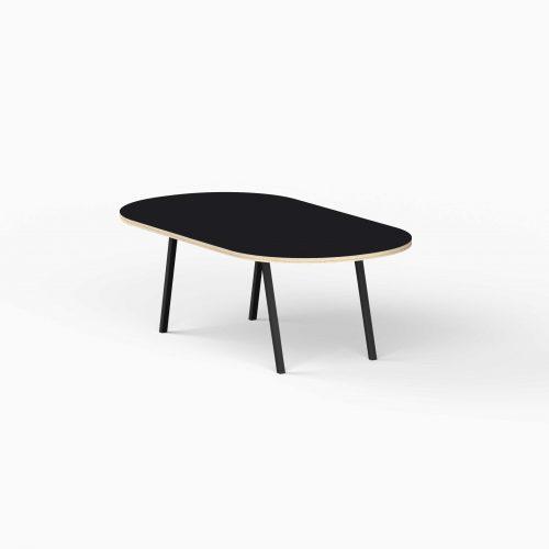 4Line-View-Lounge-Table-Krydsfiner-Sofa-Bord-Nero-Stort-sort-ben