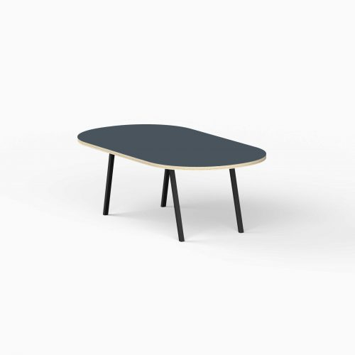 4Line-View-Lounge-Table-Krydsfiner-Sofa-Bord-SmokeyBlue-Stort-sort-ben