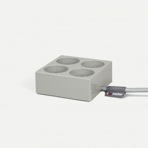 Connector stikdåse - stone grey / lysegrå