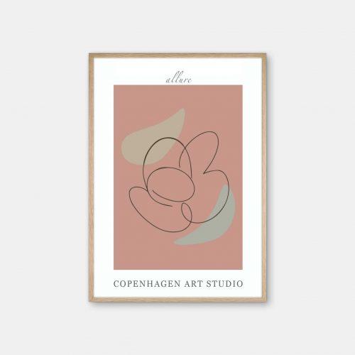 Copenhagen-Art-Studio-Allure-roed-eg-ramme