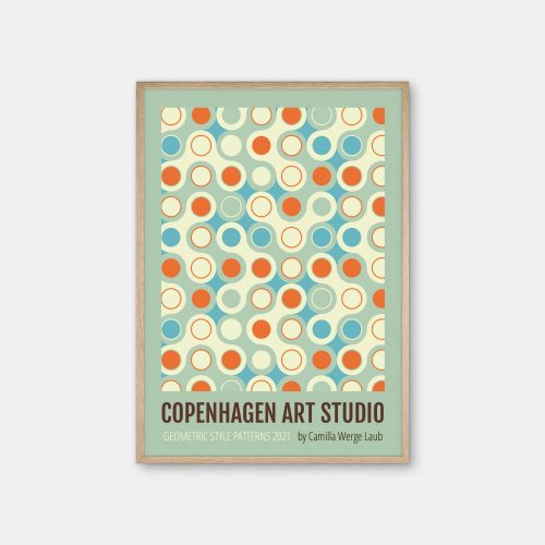 Copenhagen-Art-Studio-Camilla-Laub-Bauhaus-Circles-Plakat-eg-ramme