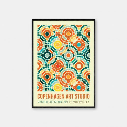 Copenhagen-Art-Studio-Camilla-Laub-Bauhaus-Plakat-sort-ramme