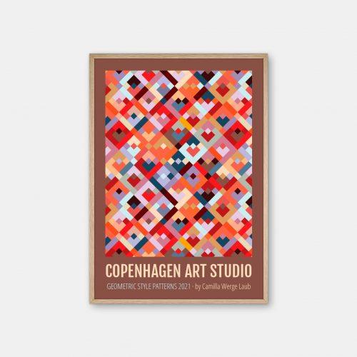 Copenhagen-Art-Studio-Camilla-Laub-Colorsquares-Plakat-eg-ramme