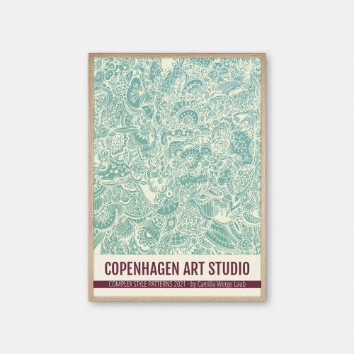 Copenhagen-Art-Studio-Camilla-Laub-Doodle-Plakat-eg-ramme