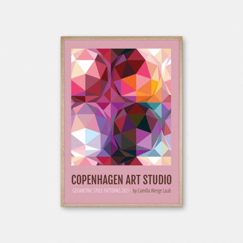 Copenhagen-Art-Studio-Camilla-Laub-Geodesicdome-Plakat-eg-ramme