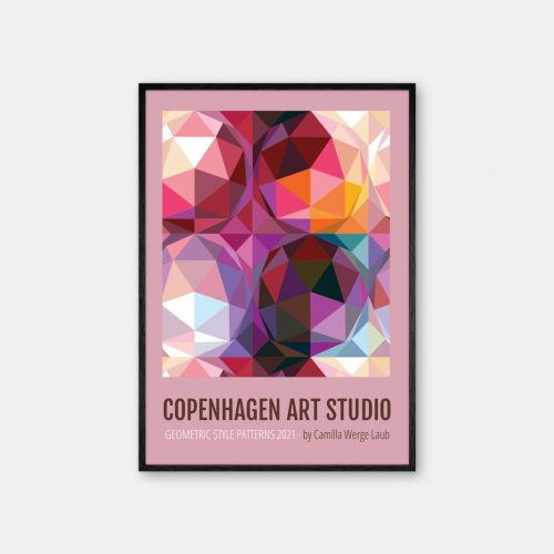 Copenhagen-Art-Studio-Camilla-Laub-Geodesicdome-Plakat-sort-ramme