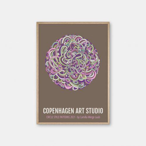 Copenhagen-Art-Studio-Camilla-Laub-Intertwined-Plakat-eg-ramme