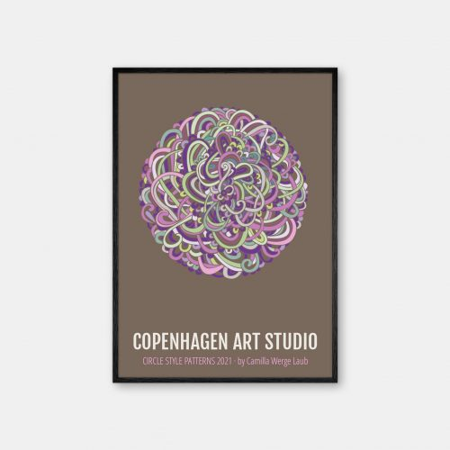 Copenhagen-Art-Studio-Camilla-Laub-Intertwined-Plakat-sort-ramme