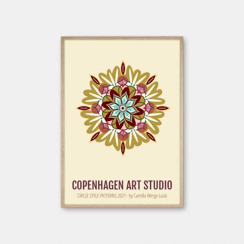 Copenhagen-Art-Studio-Camilla-Laub-Mandala-Plakat-eg-ramme