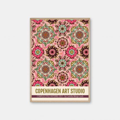 Copenhagen-Art-Studio-Camilla-Laub-Mandalacolor-Plakat-eg-ramme