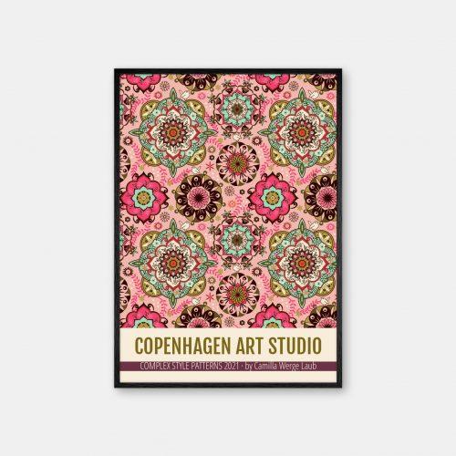 Copenhagen-Art-Studio-Camilla-Laub-Mandalacolor-Plakat-sort-ramme