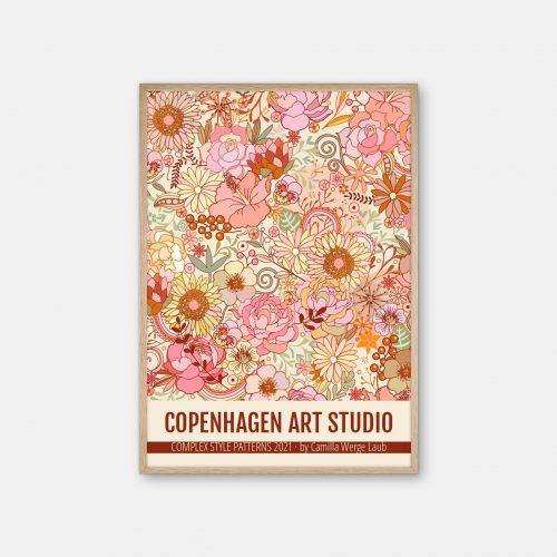 Copenhagen-Art-Studio-Camilla-Laub-Midsummerfestival-Plakat-eg-ramme
