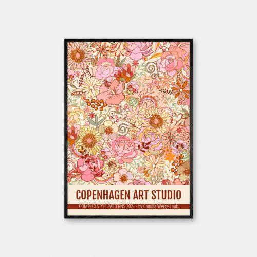 Copenhagen-Art-Studio-Camilla-Laub-Midsummerfestival-Plakat-sort-ramme