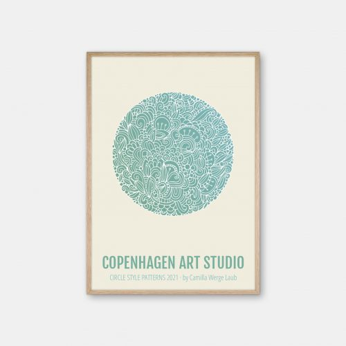 Copenhagen-Art-Studio-Camilla-laub-Detailed-Plakat-eg-ramme