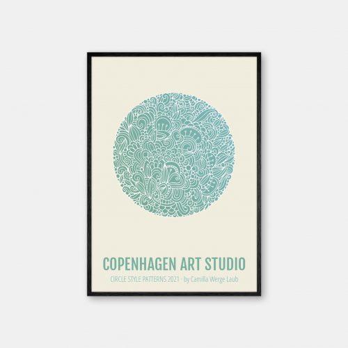 Copenhagen-Art-Studio-Camilla-laub-Detailed-Plakat-sort-ramme