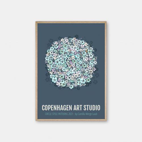 Copenhagen-Art-Studio-Camilla-laub-Floral-Plakat-eg-ramme