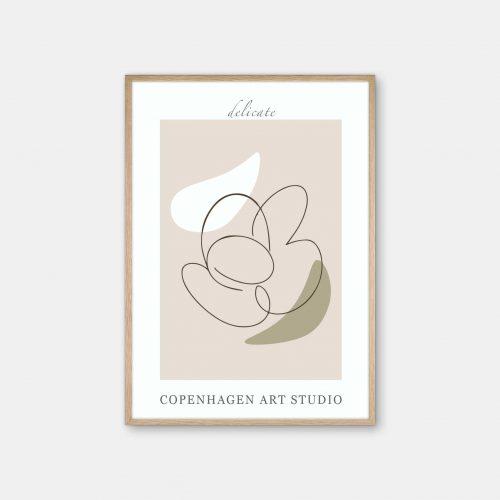 Copenhagen-Art-Studio-Delicate-beige-eg-ramme