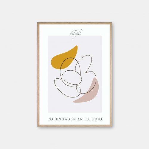 Copenhagen-Art-Studio-Delight-graa-karrygul-eg-ramme