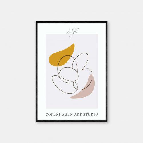 Copenhagen-Art-Studio-Delight-graa-karrygul-sort-ramme