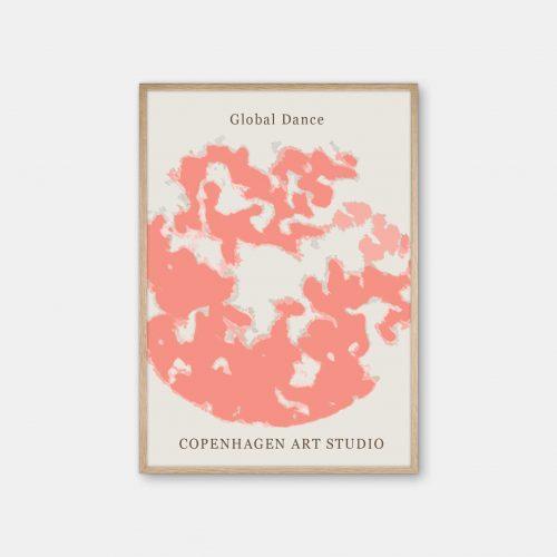 Copenhagen-Art-Studio-GlobalDance-Peach-eg-ramme
