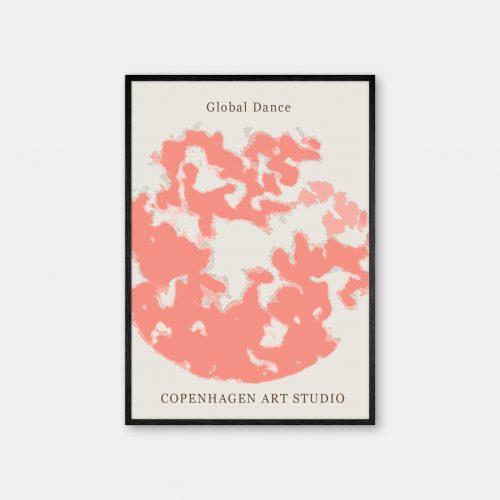 Copenhagen-Art-Studio-GlobalDance-Peach-sort-ramme