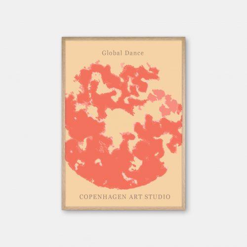 Copenhagen-Art-Studio-GlobalDance-Red-eg-ramme
