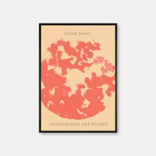 Copenhagen-Art-Studio-GlobalDance-Red-sort-ramme