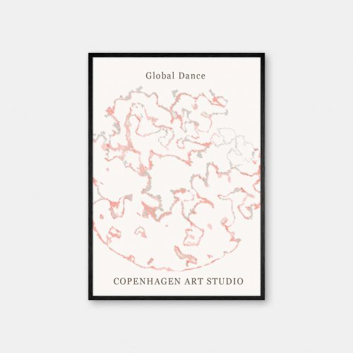 Copenhagen-Art-Studio-GlobalDance-White-Sort-ramme