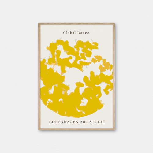 Copenhagen-Art-Studio-GlobalDance-mustard-gul-eg-ramme