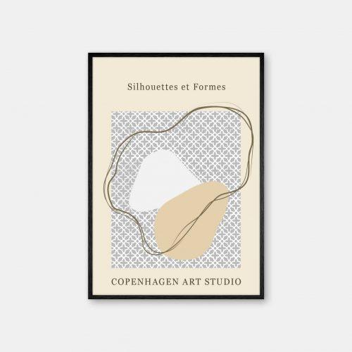 Copenhagen-Art-Studio-Silhouettes-sort-ramme