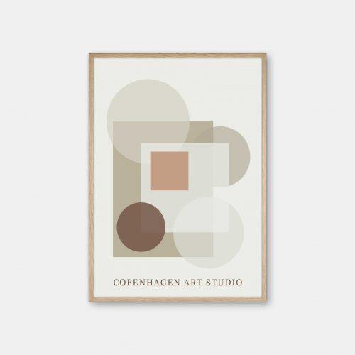 Copenhagen-Art-Studio-Sunday-beige-brun-eg-ramme