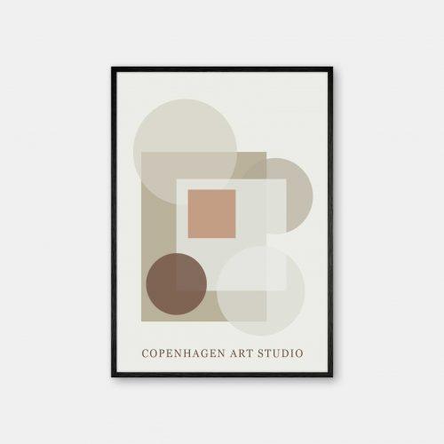 Copenhagen-Art-Studio-Sunday-beige-brun-sort-ramme