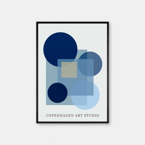 Copenhagen-Art-Studio-Sunday-blaa-sort-ramme