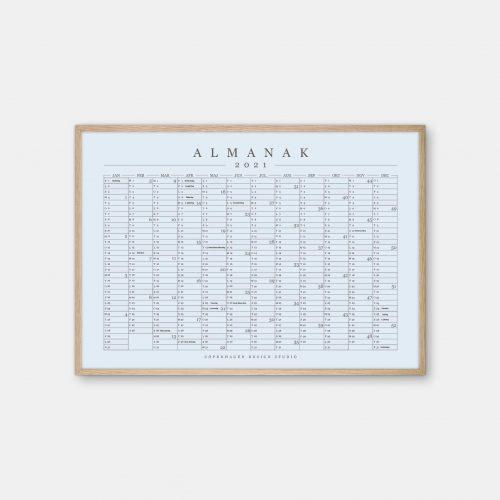 Copenhagen-Design-Studio-Almanak-kalender-blaa-eg-ramme