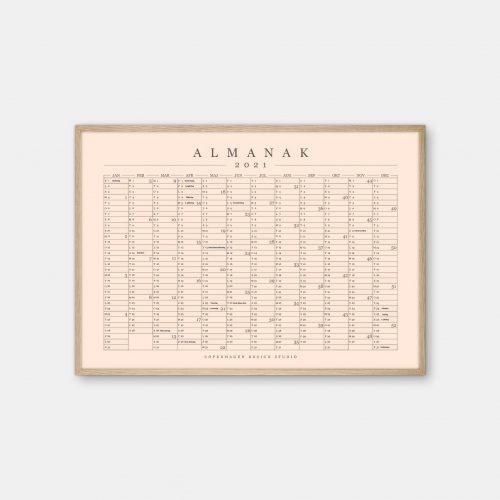 Copenhagen-Design-Studio-Almanak-kalender-orange-eg-ramme