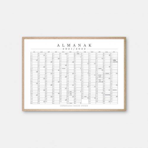 Copenhagen-Design-Studio-Halvaars-Kalender-Hvid-plakat-eg-ramme