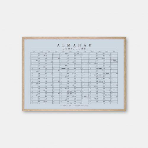 Copenhagen-Design-Studio-Halvaars-Kalender-blaa-graa-plakat-eg-ramme