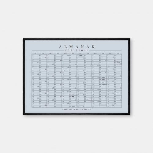 Copenhagen-Design-Studio-Halvaars-Kalender-blaa-graa-plakat-sort-ramme