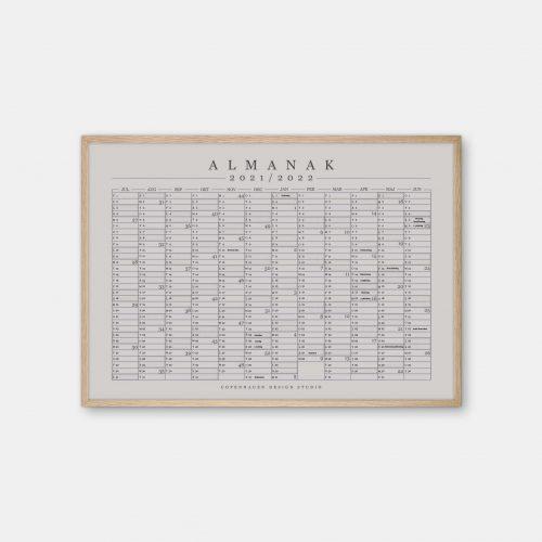 Copenhagen-Design-Studio-Halvaars-Kalender-graa-plakat-eg-ramme