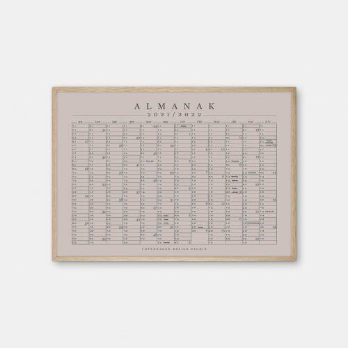 Copenhagen-Design-Studio-Halvaars-Kalender-varm-graa-plakat-eg-ramme