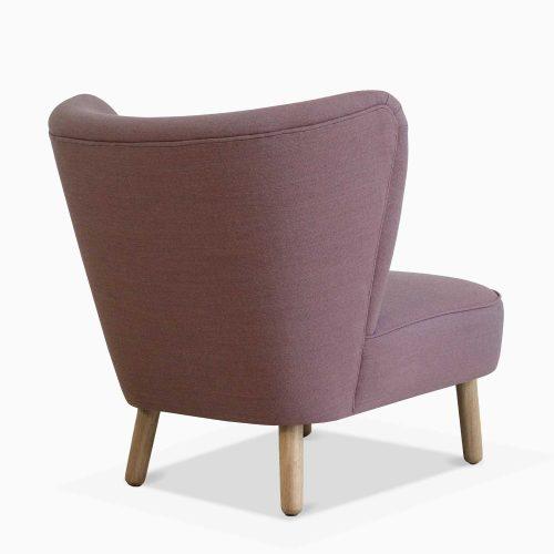 Domusnord-Take-a-Break-Lounge-Chair–-Crispy-Rose-Side