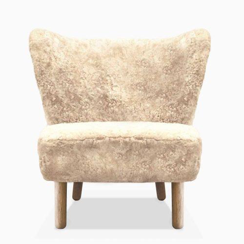Domusnord-Take-a-Break-Lounge-Chair-Skin-stol-off-hvid-beige-Front