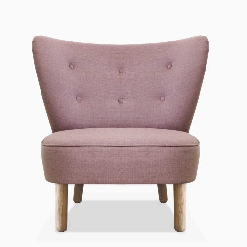 Domusnord-Take-a-Break-Lounge-Chair-stol-Dusty-Rose-Front