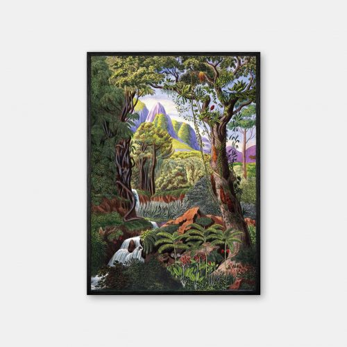 Gehalt-Botanisk-palmarum-kunstplakat-morenia-sort-ramme