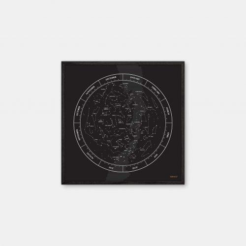 Gehalt-Constellation-Black-Poster-Black-Painted-Frame