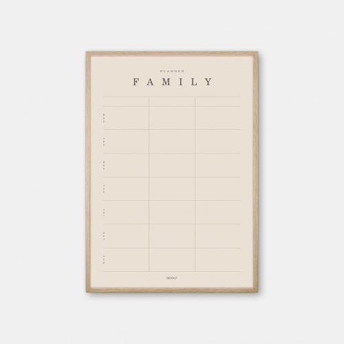 Gehalt-Family-Planner-3-Sand-Poster-Oak-Frame
