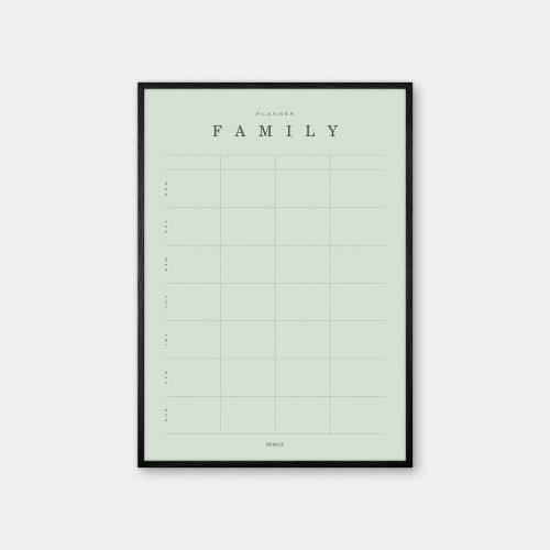 Gehalt-Family-Planner-4-Lightgreen-Poster-Black-Painted-Frame